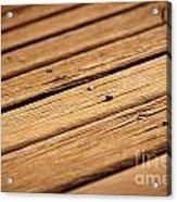 Timber Decking Acrylic Print