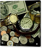 Time And Money Acrylic Print