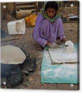 Time For Baking Bread Sinai Desert Egypt Acrylic Print