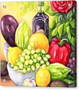 Time For Fruits And Vegetables Acrylic Print