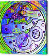 Time In Abstract 20130605m36 Square Acrylic Print
