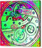 Time In Abstract 20130605m72 Square Acrylic Print
