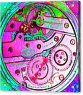 Time In Abstract 20130605p108 Square Acrylic Print