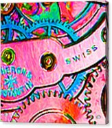 Time In Abstract 20130605p144 Long Acrylic Print by Wingsdomain Art and Photography
