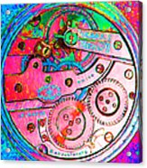 Time In Abstract 20130605p144 Square Acrylic Print