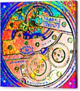 Time In Abstract 20130605p180 Square Acrylic Print