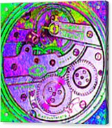 Time In Abstract 20130605p72 Square Acrylic Print