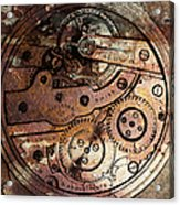 Time In Abstract 20130605rust Square Acrylic Print by Wingsdomain Art and Photography