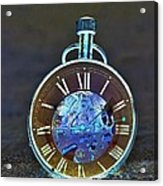 Time In The Sand In Negative Acrylic Print