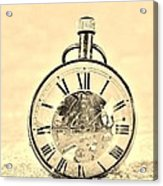 Time In The Sand In Sepia Acrylic Print