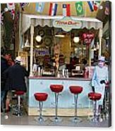 Time Out Snack Bar In Bath England Acrylic Print
