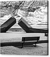 Time Sculpture - Infrared Acrylic Print