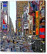 Time Square New York 20130503v7 Acrylic Print by Wingsdomain Art and Photography