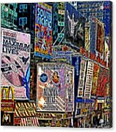 Time Square New York 20130503v9 Square Acrylic Print by Wingsdomain Art and Photography