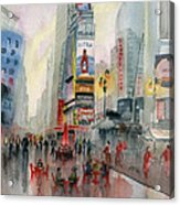 Time Square New York Acrylic Print