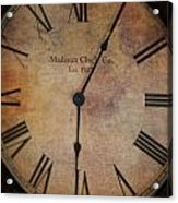 Time Stands Still For No One Acrylic Print
