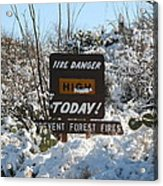 Time To Change The Sign Acrylic Print