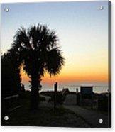 South Carolina Edisto Beach Acrylic Print by Ella Char