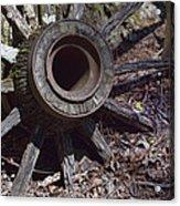 Time Worn Antique Wagon Wheel Acrylic Print