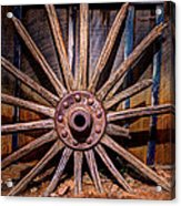 Time Worn Wheel Acrylic Print