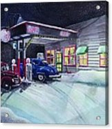Times Past Gas Station Acrylic Print