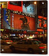 Times Square At Night Acrylic Print