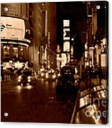 Times Square At Night - In Copper Acrylic Print