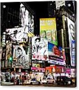 Times Square At Night Acrylic Print