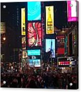 Times Square Crowds Acrylic Print