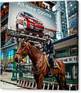 Times Square Horse Power Acrylic Print