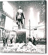 Times Square In The Snow - New York City Acrylic Print