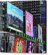 Times Square - Looking South Acrylic Print