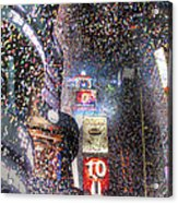 Times Square - New Years  Acrylic Print by David Yack