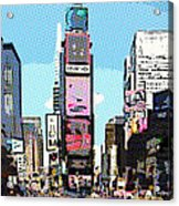 Times Square Nyc Cartoon-style Acrylic Print