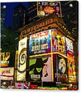 Times Square Acrylic Print by Svetlana Sewell