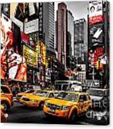 Times Square Taxis Acrylic Print