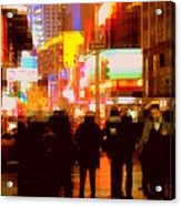Times Square - The Lights Of New York Acrylic Print