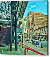 Times Union Stairwell Acrylic Print