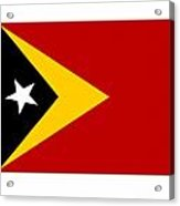 Timor-leste Flag Acrylic Print