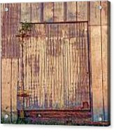 Tin Door Acrylic Print