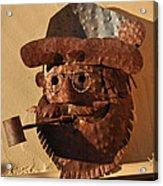 Tin Man With Pipe Acrylic Print