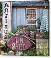 Tin Shed Apalachicola Florida Acrylic Print