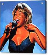 Tina Turner Queen Of Rock Acrylic Print