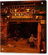 Tinkertown Blacksmith Shop Acrylic Print by Jeff Swan