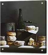 Tins And Donuts Acrylic Print by Larry Preston