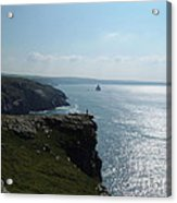 Man On The Edge Tintagel Acrylic Print