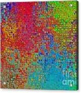 Tiny Blocks Digital Abstract - Bold Colors Acrylic Print