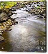 Tiny Rapids At The Bend  Acrylic Print