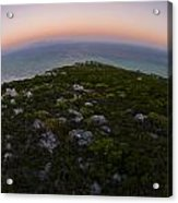 Tip Of The World Acrylic Print by Aaron Bedell