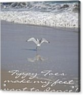 Tippy Toes Acrylic Print